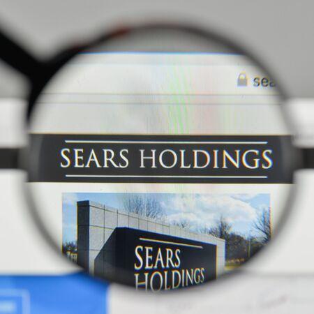 Milan, Italy - November 1, 2017: Sears Holdings logo on the website homepage.