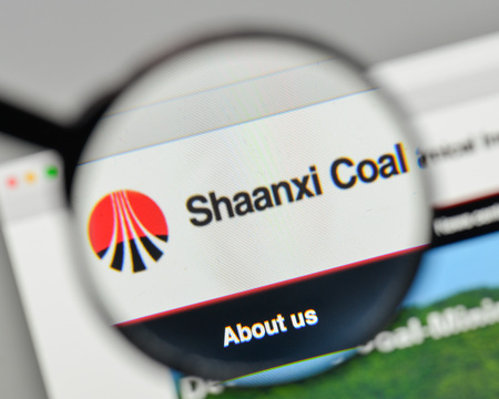 Milan, Italy - November 1, 2017: Shaanxi Coal &  Chemical Industry logo on the website homepage.