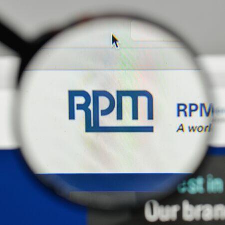 Milan, Italy - November 1, 2017: RPM International logo on the website homepage. Editorial