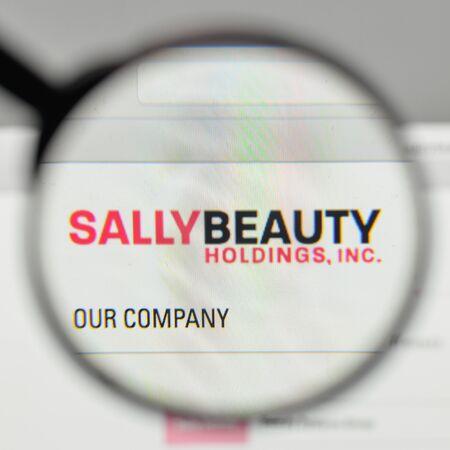 Milan, Italy - November 1, 2017: Sally Beauty Holdings logo on the website homepage.