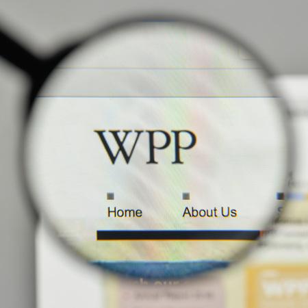 Milan, Italy - November 1, 2017: WPP logo on the website homepage.