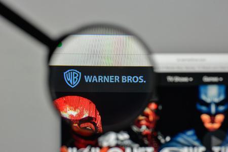 Milan, Italy - November 1, 2017: Warner Bros. logo on the website homepage.