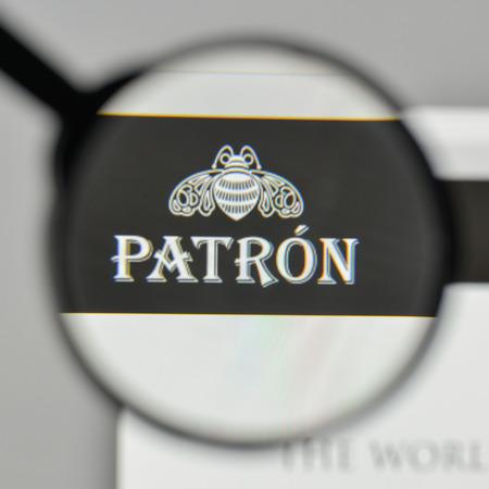 Milan, Italy - November 1, 2017: Patron Spirits Tequila logo on the website homepage.