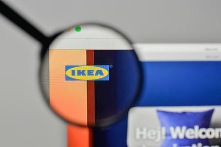 Milan, Italy - November 1, 2017: IKEA logo on the website homepage.