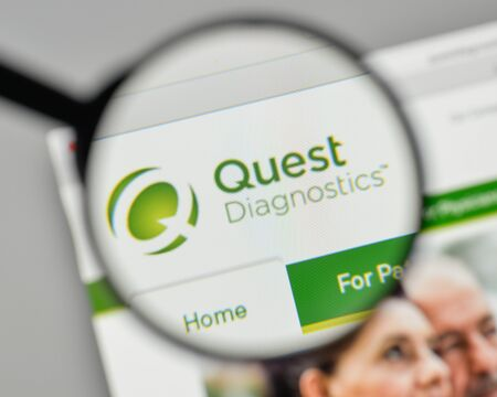 Milan, Italy - November 1, 2017: Quest Diagnostics logo on the website homepage.