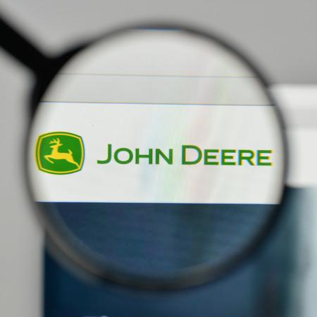 Milan, Italy - November 1, 2017: John Deere logo on the website homepage.