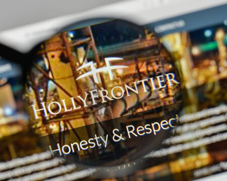 Milan, Italy - November 1, 2017: Holly Frontier logo on the website homepage.