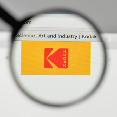 Milan, Italy - November 1, 2017: Kodak logo on the website homepage.
