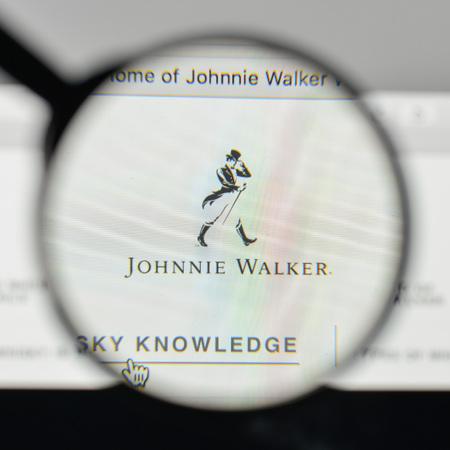 Milan, Italy - November 1, 2017: Johnnie Walker logo on the website homepage. Editorial