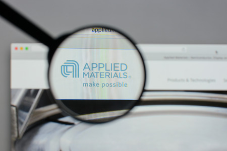 Milan, Italy - August 10, 2017: Applied Materials logo on the website homepage.