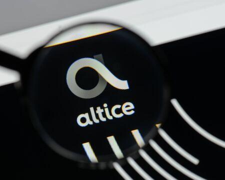 ミラノ, イタリア - 8月 10, 2017: アルティス  ウェブサイトのホームページ上のロゴ。
