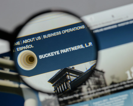 Milan, Italy - August 10, 2017: Buckeye Partners logo on the website homepage. Editorial
