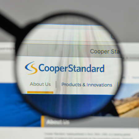 Milan, Italy - August 10, 2017: Cooper Standard Holdings logo on the website homepage. Editorial