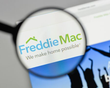 Milan, Italy - August 10, 2017: Freddie Mac logo on the website homepage.