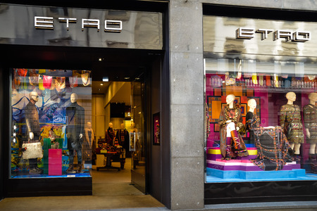 official photos 3bad6 2f4ef Milan, Italy - September 24, 2017: Etro store in Milan. Fashion..