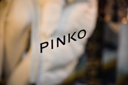 Milan, Italy - September 24, 2017:  Pinko store in Milan. Fashion week Pinko shopping Editorial