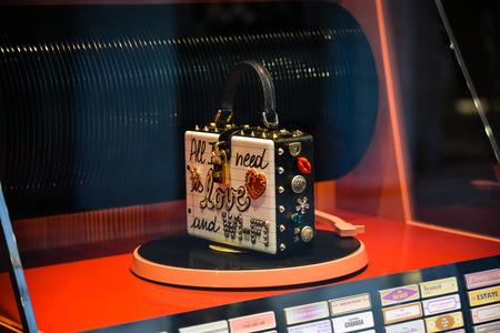 Milan, Italy - September 24, 2017:  Dolce Gabbana bag in a DNG shop in Milan.