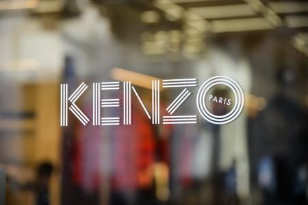 Milan, Italy - September 24, 2017:  Kenzo store in Milan. Fashion week Kenzo shopping Editorial