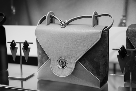Milan, Italy - September 24, 2017:  Gucci bag in a Gucci store in Milan. Fashion week
