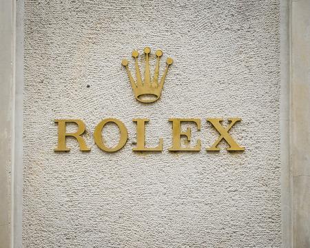 Milan, Italy - February 28, 2017:  Rolex logo