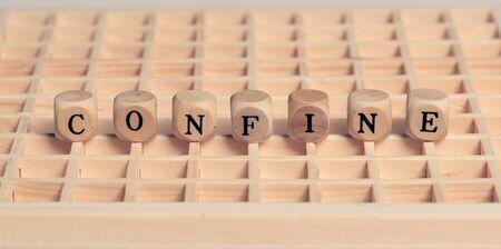 Italian word confine Stock Photo