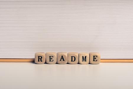 Word readme 스톡 콘텐츠