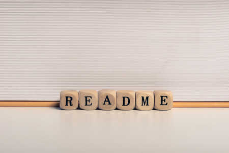 Word readme Фото со стока