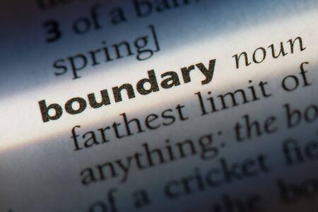 boundary word in a dictionary. boundary concept 版權商用圖片