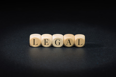 Legal word on wooden cubes. Legal concept