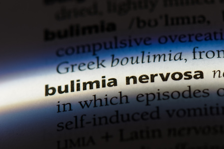 bulimia nervosa word in a dictionary. bulimia nervosa concept.