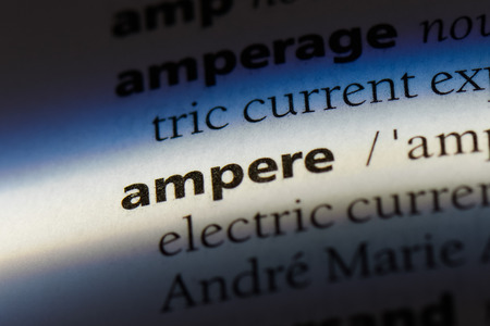 ampere word in a dictionary. ampere concept. Фото со стока - 99480147