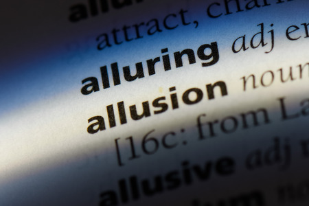 allusion word in a dictionary. allusion concept. Stock Photo