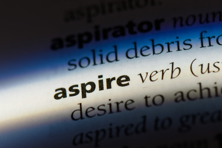 aspire word in a dictionary. aspire concept.