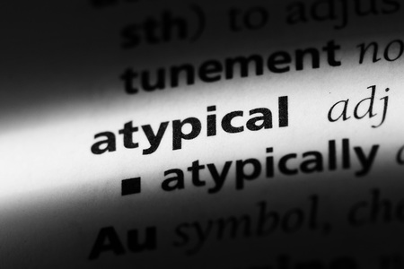 atypical word in a dictionary. atypical concept.