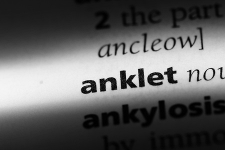 anklet word in a dictionary. anklet concept.