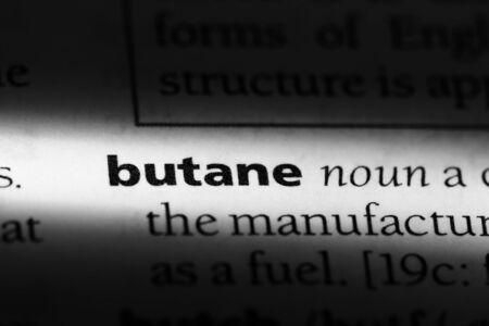 butane word in a dictionary. butane concept. Stock Photo