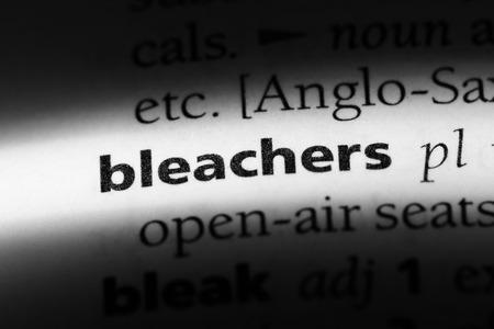 bleachers word in a dictionary. bleachers concept.