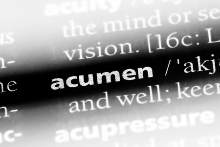 acumen word in a dictionary. acumen concept.
