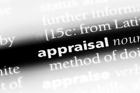 appraisal word in a dictionary. appraisal concept. Stock Photo