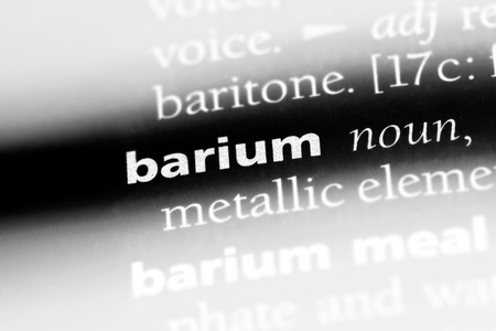 barium word in a dictionary. barium concept.