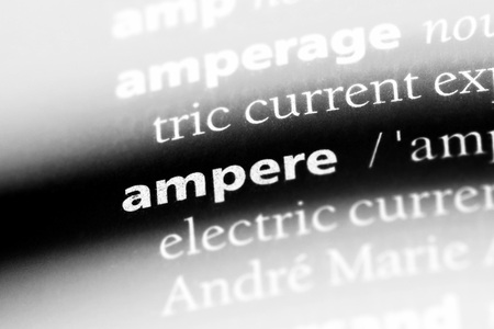 ampere word in a dictionary. ampere concept. Фото со стока - 99830986