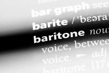baritone word in a dictionary. baritone concept.