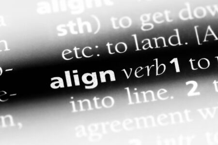 align word in a dictionary. align concept.