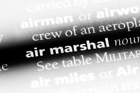 air marshal word in a dictionary. air marshal concept. Stock Photo