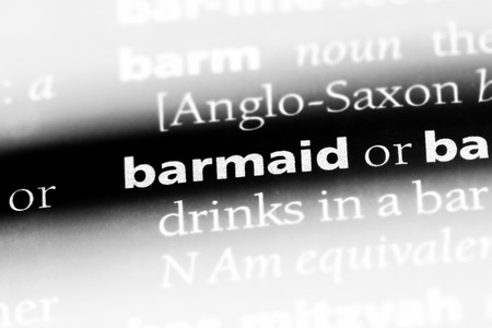 barmaid word in a dictionary. barmaid concept.