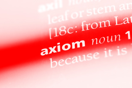 axiom word in a dictionary. axiom concept. Banco de Imagens