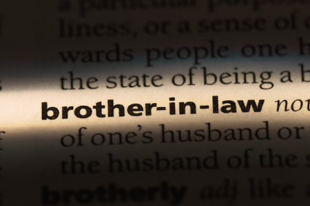 brother-in-law word in a dictionary. brother-in-law concept. Stock fotó
