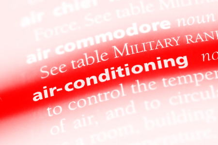 air-conditioning word in a dictionary. air-conditioning concept.