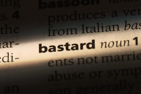 bastard word in a dictionary. bastard concept. Stock Photo