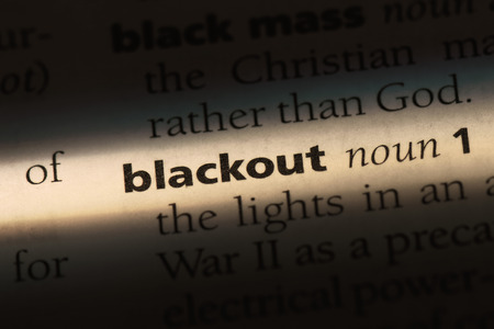 blackout word in a dictionary. blackout concept.
